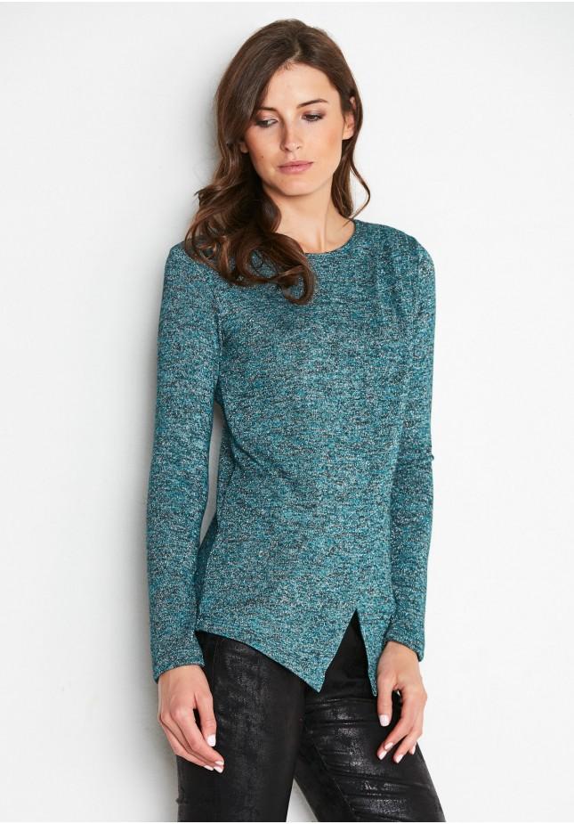 Zielony Kopertowy Sweterek