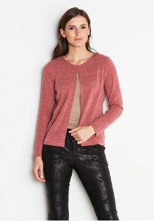 Brzoskwiniowy Sweter
