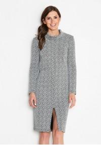 Sukienka półgolf z rozporkiem