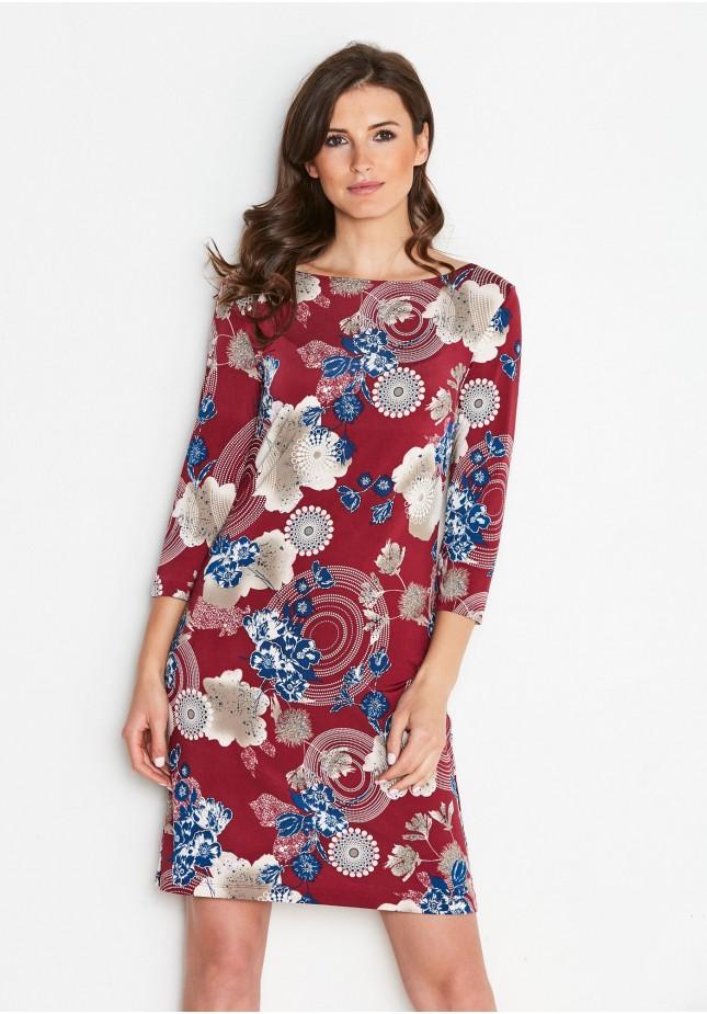 Prosta wzorzysta Sukienka