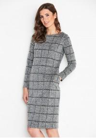 Checkered Gray Dress