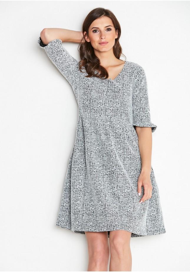 Biało-czarna Sukienka