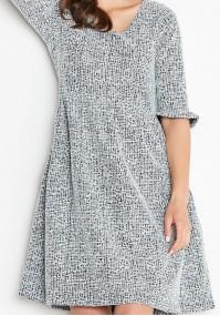 Rozkloszowana Biało-czarna Sukienka