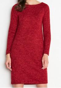 Czerwona dzianinowa Sukienka