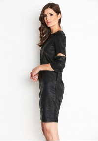 Black imitation leather Dress