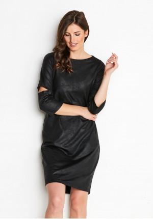 Black imitation leather Dress