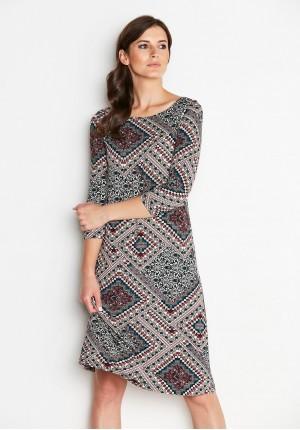 Lekka wzorzysta Sukienka