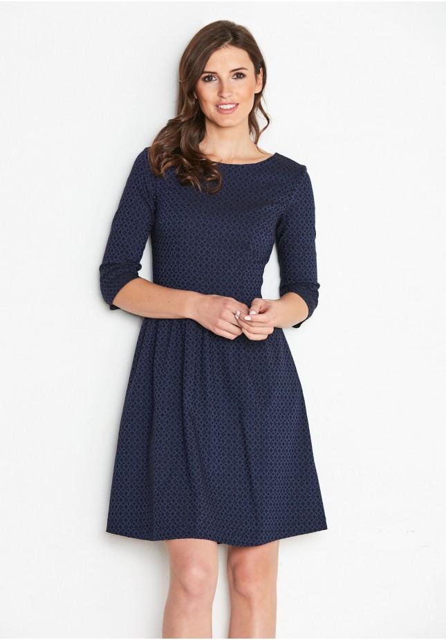 Granatowa Elegancka sukienka