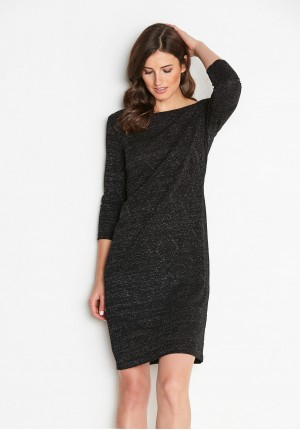 Knitted Black Dress