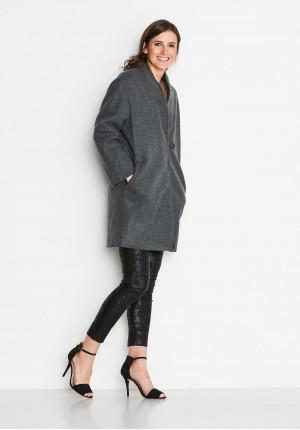 Szary Płaszcz oversize