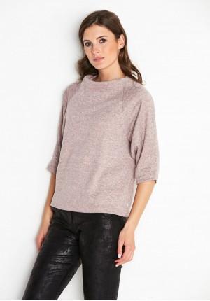 Różowy Sweter półgolf