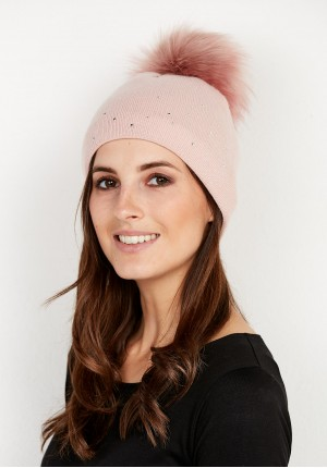 Pink Cap with pompom
