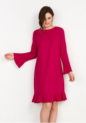 Amaranth Dress with Frill