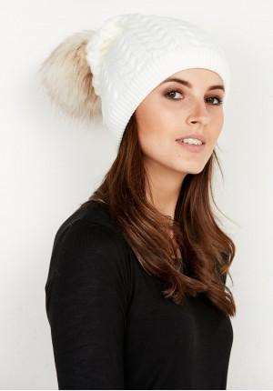 White Cap with pompom