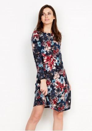 Dzianinowa Sukienka w Kwiaty