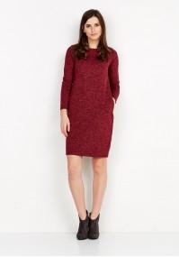 Dzianinowa czerwona Sukienka