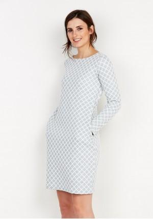 Dzianinowa Sukienka w kratkę