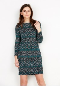 Knitted Dark Green Dress