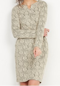 Beige warm Dress