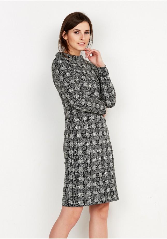 Sukienka Półgolf w kratę