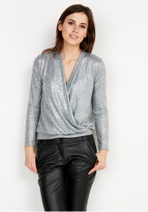 Silver enveloped Sweater