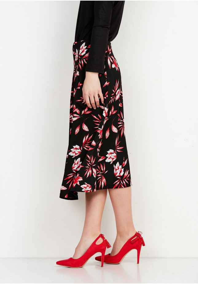Midi Skirt in flowers