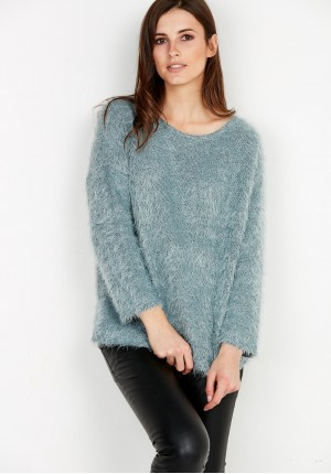 Mint Hairy Sweater
