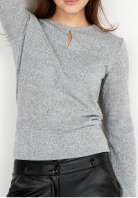 Szary Sweter z łezką