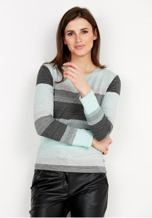 Celadon striped blouse