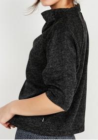 Grafitowy Sweter półgolf