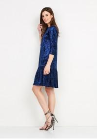 Velor Blue Dress
