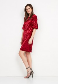 Velor Red Dress