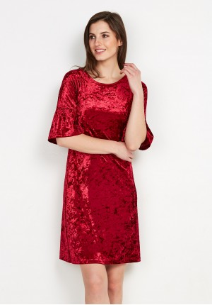 Velor Red Dress