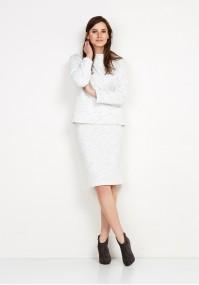 Dzianinowa biała Spódnica