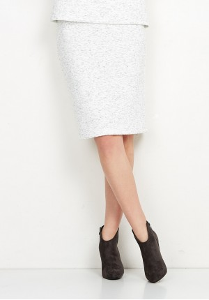 Knitted White Skirt