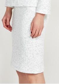 Knitted White Skirt