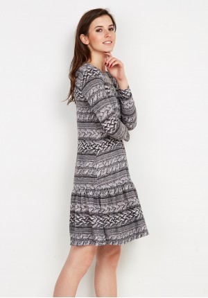 Grey Dress with Frill