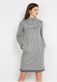 Grey Dress with Semi-Golf