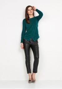 Zielony Sweter z zakładką