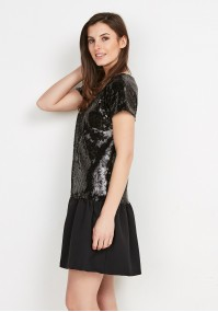 Sequin Dress with Frill