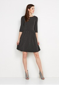 Tapered Waist Dark Dress