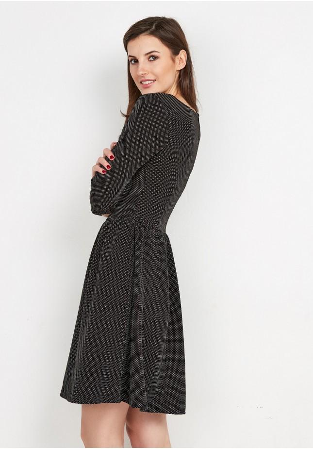 Odcinana ciemna Sukienka
