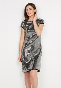 Dress with silver sequins