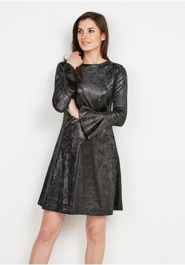 Silver Black Dress