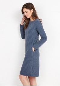 Niebieska dzianinowa sukienka