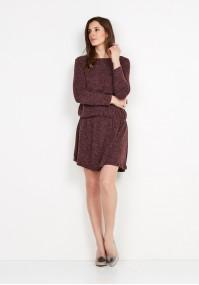Burgundy Knitted Dress