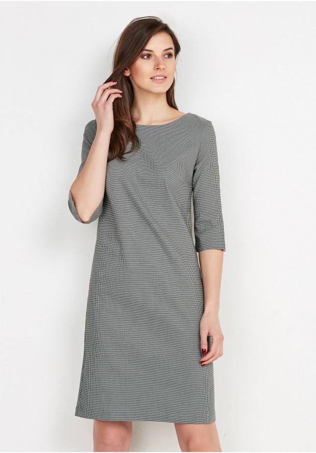 Klasyczna sukienka w kratę