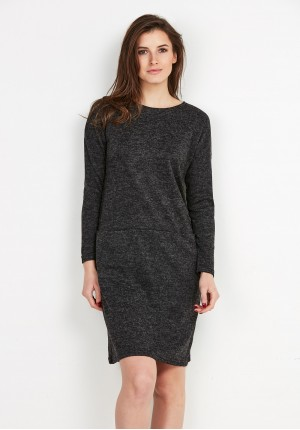 Knitted graphite Dress with Pockets