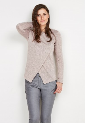 Bright Overlap Knitted Sweater