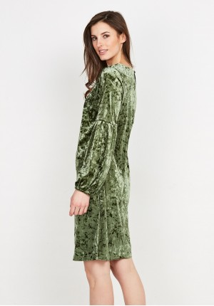 Velor Green Dress